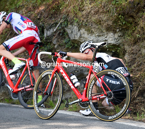 Fabio Silvestre has crashed at the back of the peloton - but he's unhurt...