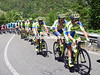 Ivan Rovny leads the Tinkoff express in pursuit - the gap is down to about one minute...