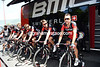 Philippe Gilbert and his BMC team are warming up in Rapallo - the signs of a hard stage coming today...