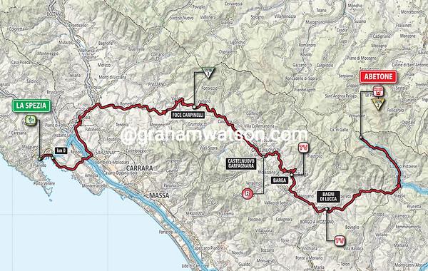 Giro d'Italia stage 5: La Spezia > Abetone, 152kms