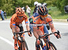 Two cyclists have escaped right away - Rutkiewicz and Grosu...