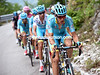 Tanel Kangert leads an Astana assault on the big climb - almost all the Tinkoff riders have been dropped..!