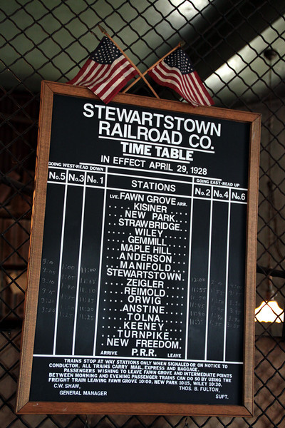 The way it was in the glory Days of the Stewartstown Railroad.