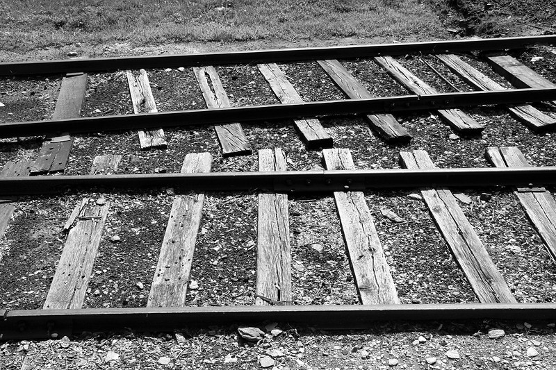These Steel rails are the originals from the 1880s.