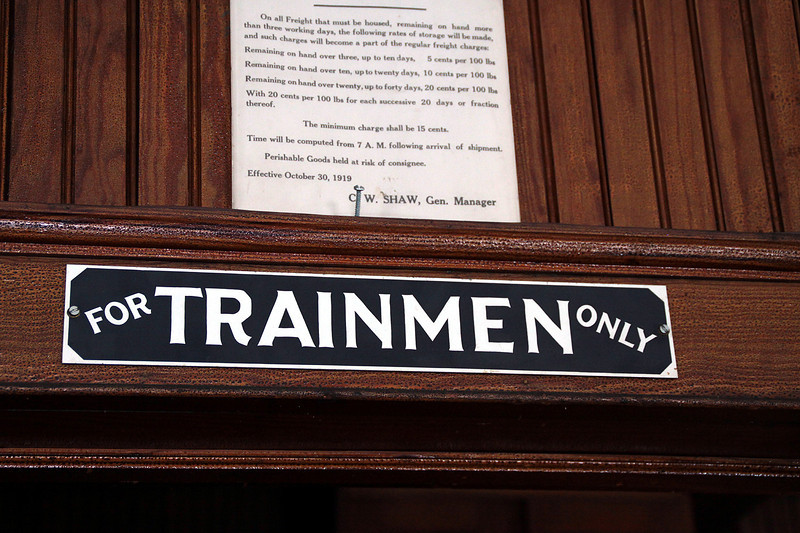 The interior of the Stewartown railroad is a time capsule into the way things used to be.