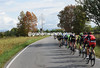 There's an autumnal look to the day as the peloton speeds away from Bergamo...