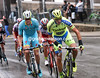 Kreuziger's attempt with Caruso and Fuglsang is about to end on the Cote de Saint-Nicolas...