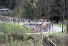 Katusha leads the peloton on the Cote de Rosiers...
