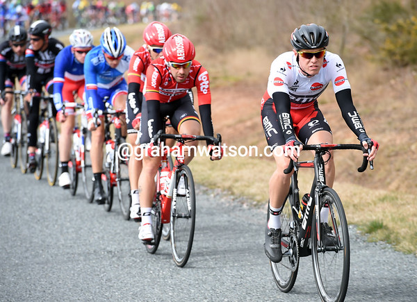 Rohan Dennis is second overall but largely anonymous since the Prologue...