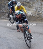 Tony Martin leads Kwiatkowski on another attack on the descent of the Saint Roch...