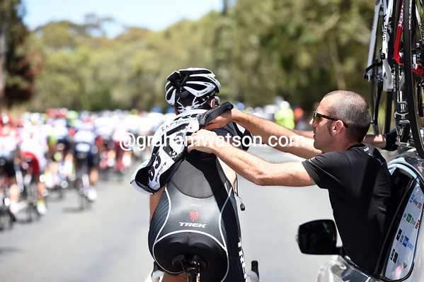 The TDU is still a race that allows race-radios - but maybe Laurent Didier would rather it did not...
