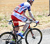 Vladimir Isaychev is one of many cyclists nursing injuries after yesterday's big crash...