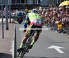 Sagan almost did a Fuglsang on the narrow turn...