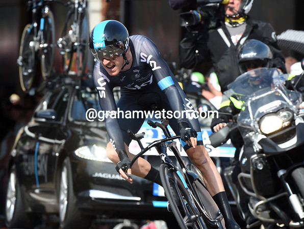 Geraint Thomas took 12th place at 33-seconds...