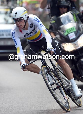 Rigoberto Uran took 17th place, 40-seconds down...