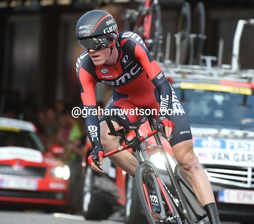 Tejay Van Garderen took 20th place, 42-seconds down...