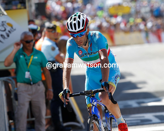 "Vincenzo Nibali loses 4' 25"" to drop well down the G.C..."