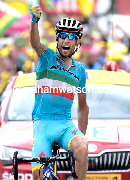 """Vincenzo Nibali wins stage nineteen in La Toussuire by 45-seconds over Quintana and 1' 14"""" over Froome…"""