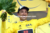 Fabian Cancellara becomes the new race-leader because of his 3rd-place sprint..!
