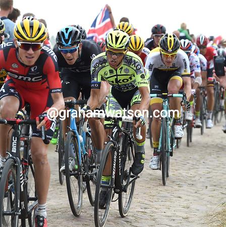 Alberto Contador is struggling a bit, but he's in good company behind Van Garderen...