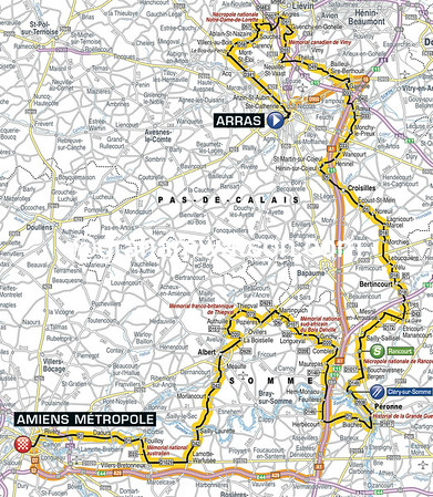 Tour de France Stage 5: Arras > Amiens, 190kms