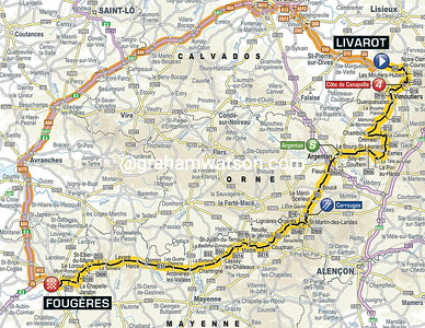 Tour de France Stage 7: Livarot > Fougéres, 191kms