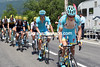 Astana with Kangert has taken control of the racing on the Tourmalet...