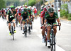 The escape has been caught and Europcar launch their plan to deliver Bryan Coquard to the finish-line in Valence - in first place..!