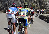 Alberto Contador is at the back of a group of stragglers that includes Tejay Van Garderen...