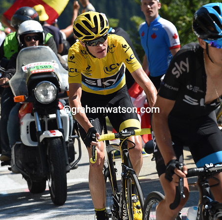 Froome is quite isolated now, but he looks in control all the same...