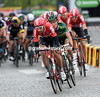 Thomas De Gendt leads the Lotto train into the last lap...