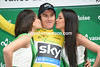 Geraint Thomas earned the right to wear the leader's yellow jersey after stage one..!