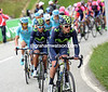 Winner Anacona leads Quintana up the Col de Rangiers, the escape has been swallowed up...