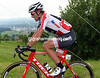 Cancellara is one of the first to be dropped on the sheer ascent, a truer indication of his form than yesterday's TT...