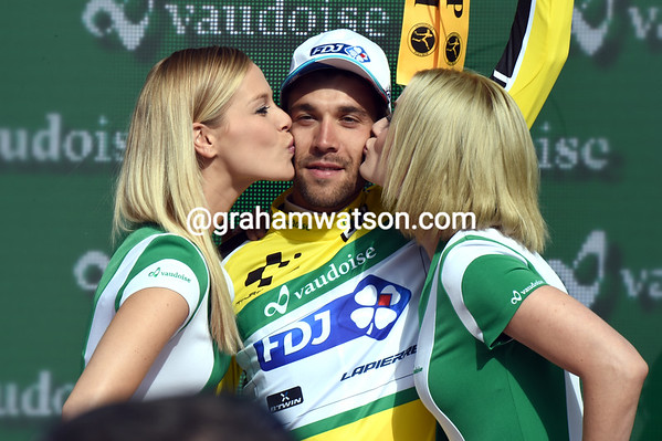 Thibaut Pinot has won the stage and taken the race-lead too..!