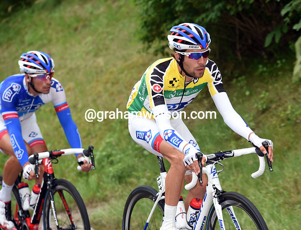 Thibaut Pinot is the one being protected as the new race-leader...