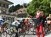 'The Devil' is in Bern, and cheering the peloton into the city...