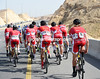With 25-kilometres to go, it would appear that Cofidis has yet to organise its train for sprinter Nacer Bouhanni...