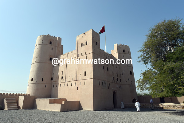 Al Naman castle is the reason stage one of the Tour of Oman is starting here...