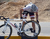 Fabian Cancellara stops to check if his tyre has rolled a bit...