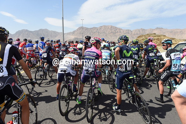One minute to go, but there are a lot of un-happy riders out there in the desert...