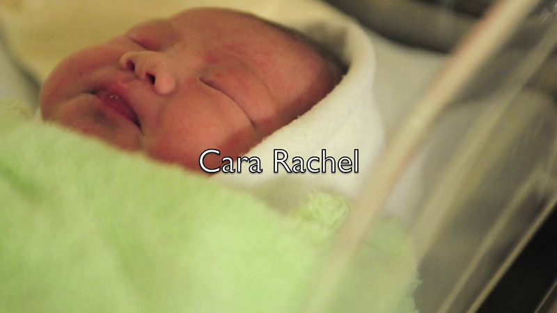 Short video to celebrate the birth of our daughter, Cara Rachel