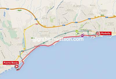 Vuelta a España stage 1: Puerto Banus > Marbella, 7.4kms (TTT)