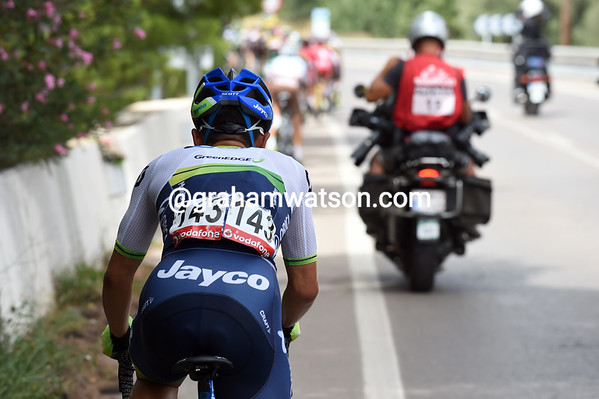 Caleb Ewan is slipping out the back of the peloton and out of the Vuelta - but he'll be back one day..!