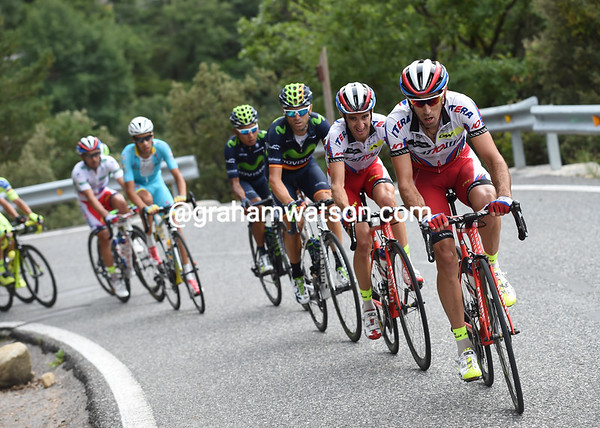 Alberto Losada leads the Aru-Valverde-Quintana group that also contains Rodriguez...