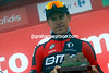 Alessandro De Marchi has won stage 14, but he's unable to mustre much emotion...