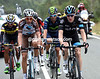 Salvatore Puccio leads a five-man escape away after 50-kilometres of racing...