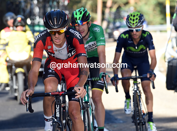 De Marchi is also chasing Plaza and moving himself up the G.C...