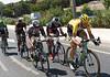 Maarten Tjallingii leads the escape around Malaga with a five-minute lead...