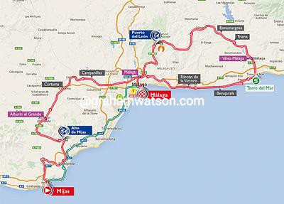 Vuelta a España stage 3: Mijas > Malaga, 158kms